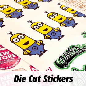Any SHape Die Cut Sticker Printing